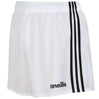 mourne shorts white black
