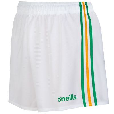 mourne shorts white green gold