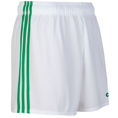mourne shorts white green