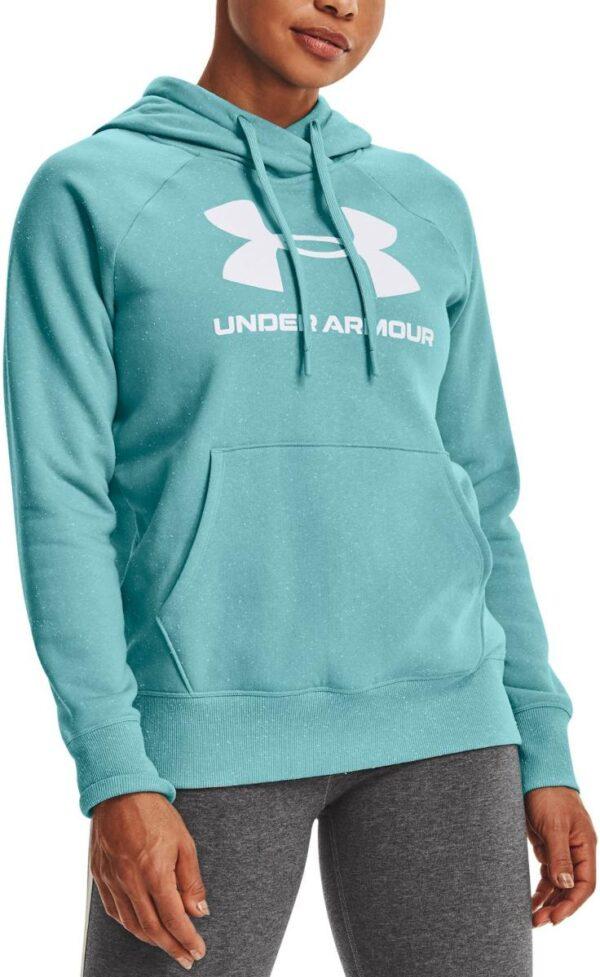 under armour rival fleece logo hoodie blu 336533 1356318 476