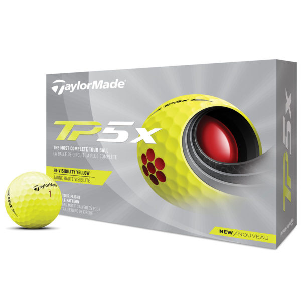 369595 Yellow TaylorMade TP5x 12 Ball Pack 2021 1
